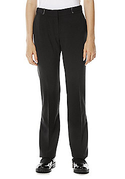 F&F School D-Ring Detail Straight Leg Trousers - Black