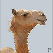 Birthday, Anniversary Greetings Card - Camel Animal Design - Blank