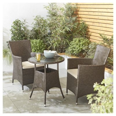 tesco corsica rattan garden bistro set brown - Rattan Garden Furniture Tesco