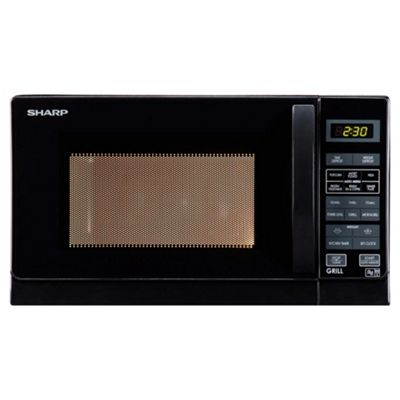 Sharp R662KM  Microwave Oven with Grill Compact, 20L - Black