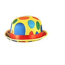 Adults Novelty Polka Dot Clown Bowler Hat Fancy Dress Accessory 1eec17faf8e3