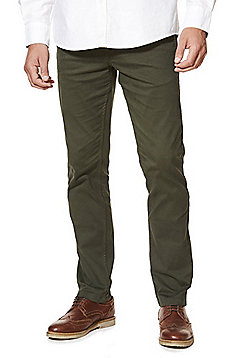 F&F Stretch Slim Leg Chinos - Green