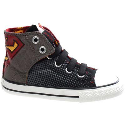 Converse CT AS Easy Slip Hi Charcoal/Varsity Superman Toddler Shoe 737257C