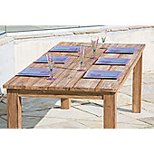Rustic Reclaimed Teak Open Slatted Table
