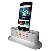 Majority Mercury iPhone Speaker Dock Alarm Clock White