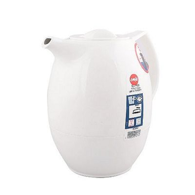 Emsa ELLIPSE Thermos Jug with Tea Filter, 1 Litre, White