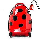 RideonToys4u Battery Powered 2.4G Remote Control Walking Suitcase Ladybug