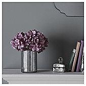 Fox & Ivy Artificial  Hydrangeas In  Mercury  Vase