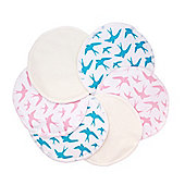 Washable Natural Bamboo Breast Pads (Mixed Colours, Pack of 12)