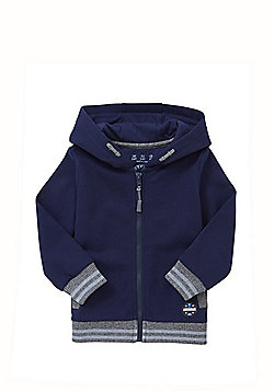 F&F Marl Trim Zip-Through Hoodie - Navy