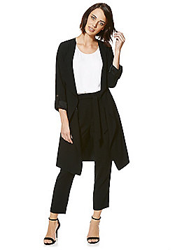 F&F Waterfall Long Line Jacket - Black