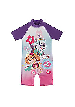 PAW Patrol Skye Everest Toddler Girls Kids Swim Surf Suit - Purple