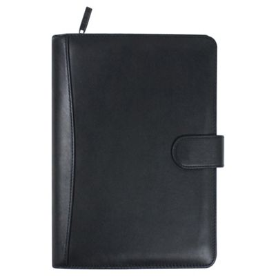 Collins Stirling A5 Premium Leather Personal Organiser, Black