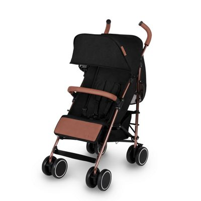 Ickle Bubba Discovery Stroller plus accessories Black on Rose Gold Frame