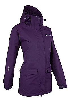 Glacier Womens Extreme Long Waterproof Jacket - Purple
