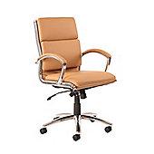 Classic Executive Chair Medium Back Tan With Arms