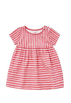 F&F Striped Smock Dress - Pink & White
