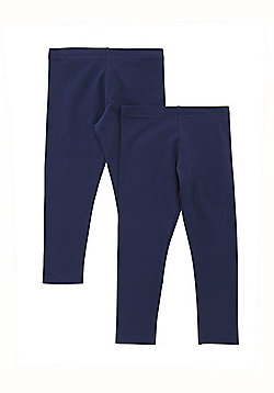 F&F 2 Pack of Leggings with As New Technology - Navy
