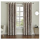 "Fox & Ivy  Lined Velvet Curtains -  - 66x54"" - Ivory"