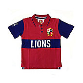 British & Irish Lions Rugby Kids Classic Polo Red - Red