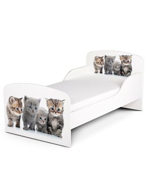 PriceRightHome Kittens Toddler Bed & Deluxe Foam Mattress