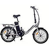 "Cyclamatic Cx2 20"" Folding Electric Bicycle E-Bike - 6 Speed Shimano"