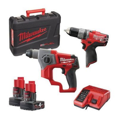 Milwaukee M18CHIWF12-502X M18 Fuel Friction Ring Impact Wrench 1/2 Reception (2 x 5.0ah batteries, charger, dynacase)