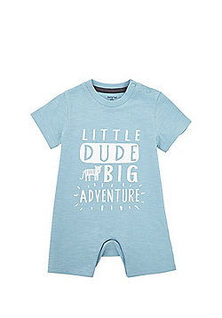 F&F Little Dude Big Adventure Romper - Blue