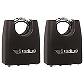 Sterling Laminated Closed Shackle Steel Padlock - 45mm Pack of 2