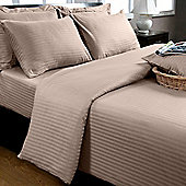 Homescapes Beige Egyptian Cotton Duvet Cover and Pillowcases 330 TC, Double