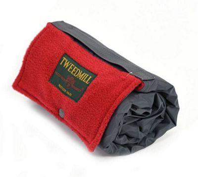 Tweedmill Textiles Walker Companion Waterproof Fleece Picnic Blanket Rug in Red