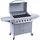 iQ 6 Burner Gas BBQ with Side Burner. Free Accessory Pack Includes BBQ Cover and Utensil Set
