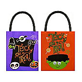 Trick or Treat Halloween Plastic Bags (2 Included)