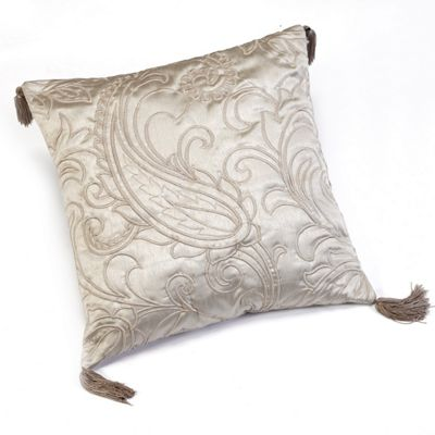 Julian Charles Paisley Natural Luxury Jacquard Square Filled Cushion