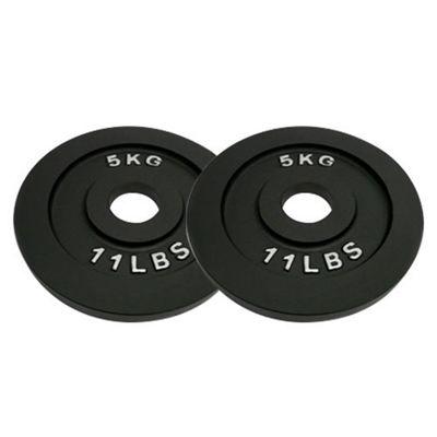 Body Power Cast Iron Olympic (2 Inch) Discs - 5kg (x2)