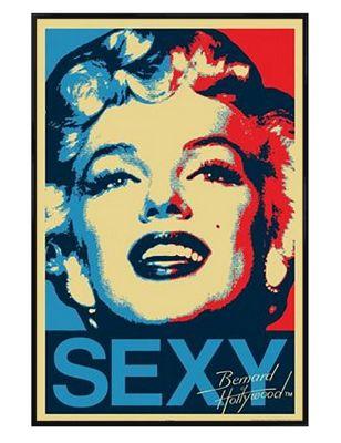 Marilyn Monroe Gloss Black Framed Sexy Poster