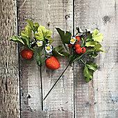 Artificial Strawberry & Raspberry Pick