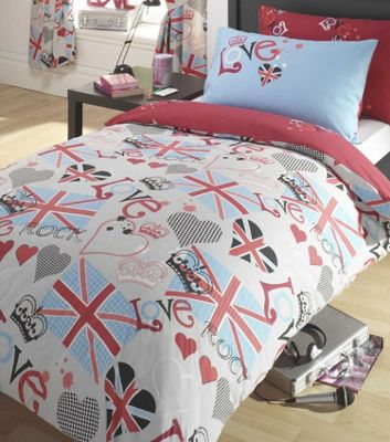Princess Love Union Jack Double Duvet