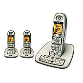 British Telecom 7600-TRIO-WHITE White Cordless Dect Digital Triple Phone and Answer Machine