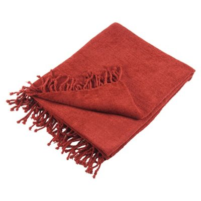 Tesco Chenille Throw- Berry 125X160Cm