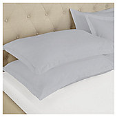 Fox & Ivy Egyptian Cotton Oxford Pillow Case - Silver
