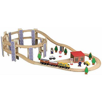50Pcs Wooden Railway Train Set 50035 - Brio Bigjigs Compatible