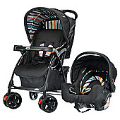Obaby Monty Travel System, Black Stripe
