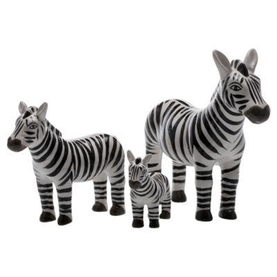 F&F Home Global Objet Set of 3 Zebras