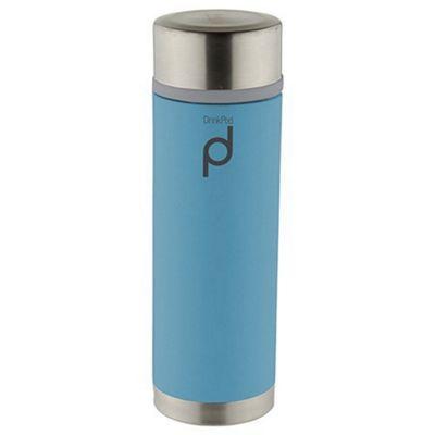 Grunwerg Pioneer Drinkpod Stainless Steel Vacuum Flask in Blue 350ml