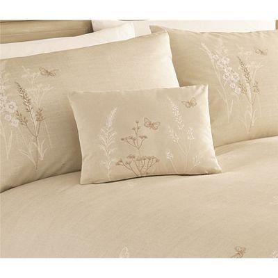 Serene Claudia Natural Boudoir Cushion Cover - 28x38cm