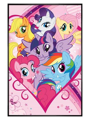 My Little Pony Gloss Black Framed Group Poster 61x91.5cm