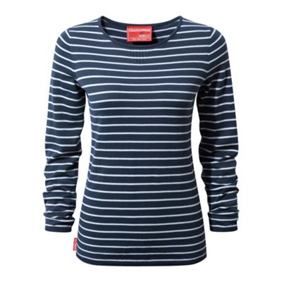 Craghoppers Ladies NosiLife Camille Crew Fleece Night Blue XS