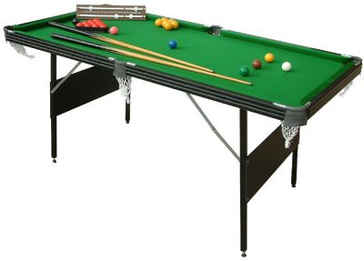 6ft Crucible 2-in-1 Foldup Snooker/Pool Table
