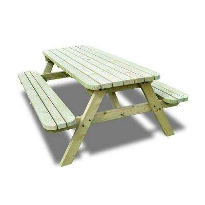 Oakham Rounded Picnic Bench - 3ft